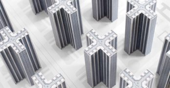 Recortables de arquitectura brutalista por Zupagrafica