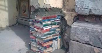 Pilar de libro macizo cara vista