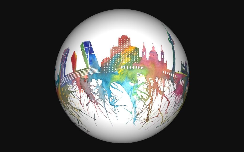 Convierte ciudades en planetas a partir de su skyline - Planeta Madrid
