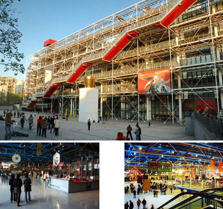 Centro Cultural George Pompidou – Richard Rogers y Renzo Piano – (1.977)