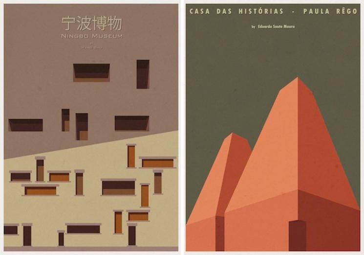 Posters de arquitectura por andr chiote for Imagenes de arquitectura minimalista