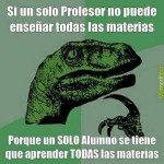 Profesor alumno materia escuela