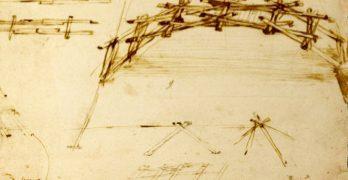 El puente autoportante de la ETSAC, réplica del diseñado por Leonardo da Vinci