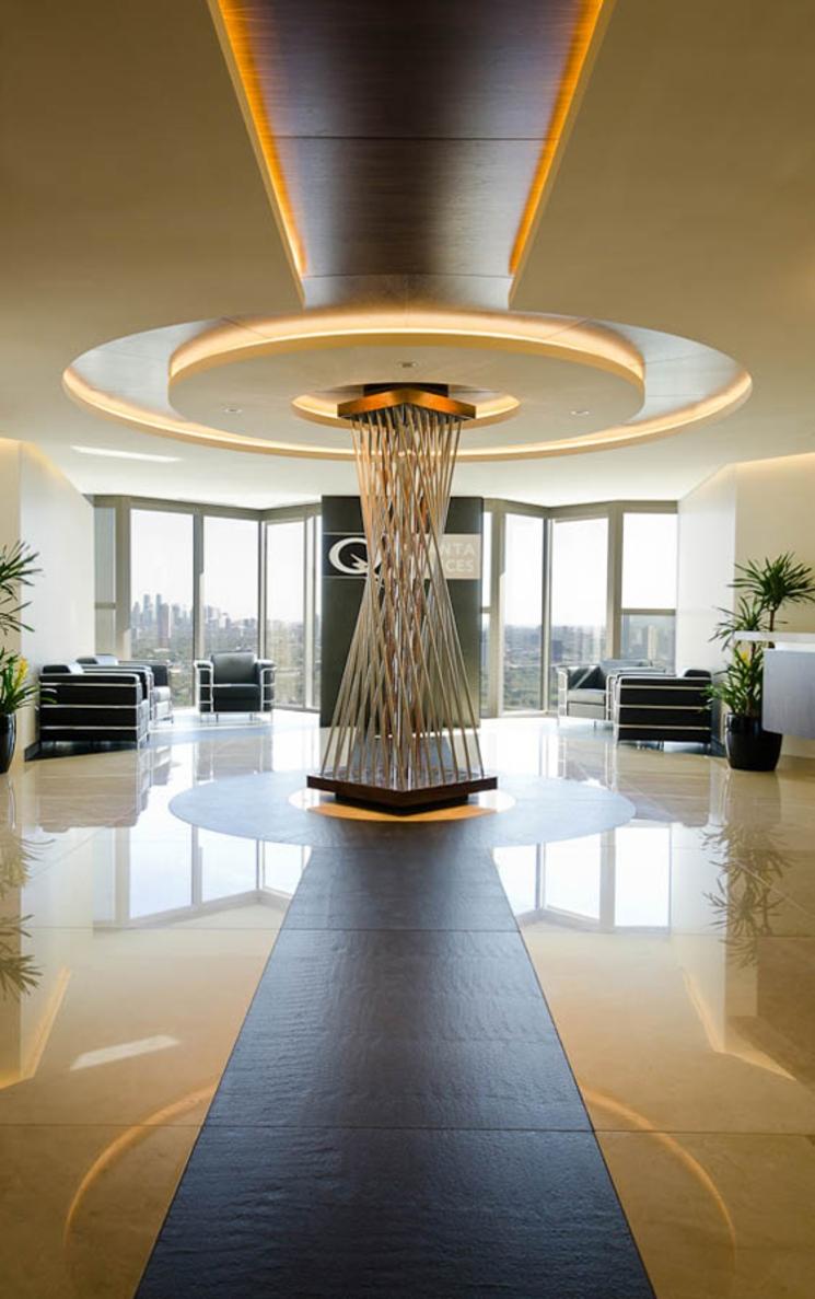Oficinas corporativas quanta services por art arquitectos for Diseno de oficinas administrativas