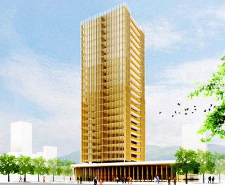 rascacielos madera