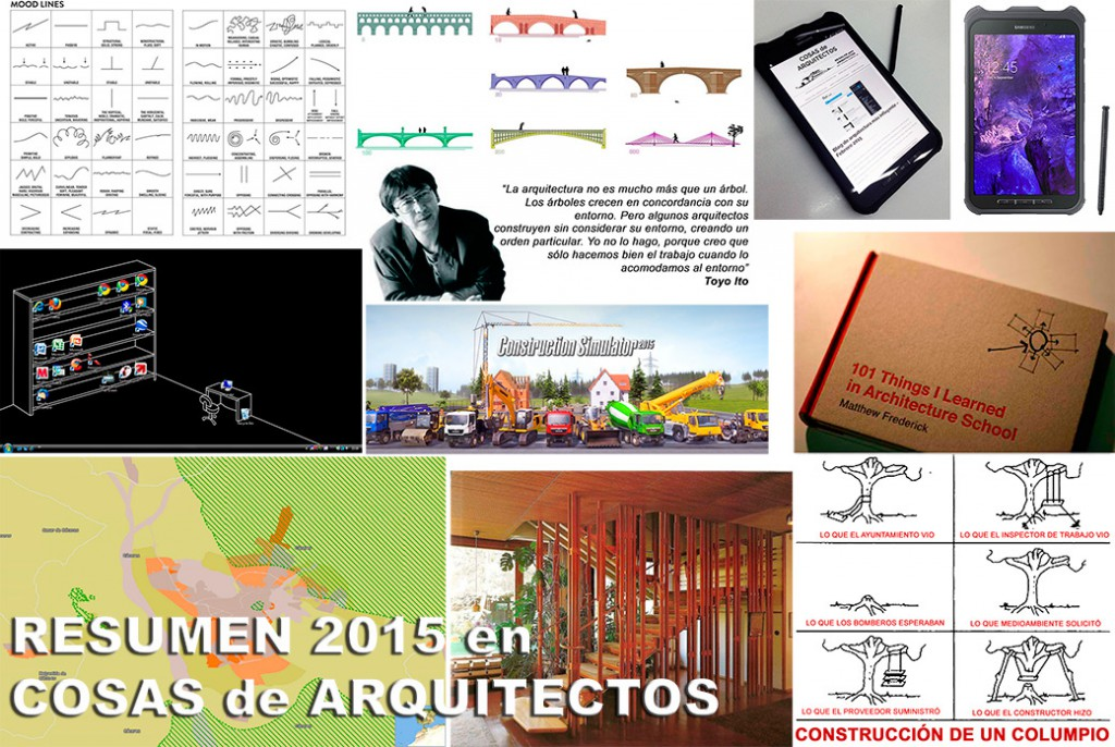 Resumen del 2015 en COSAS de ARQUITECTOS