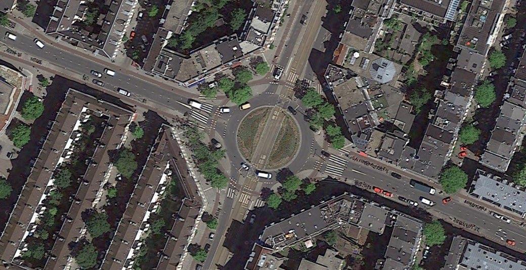 Rotonda para ciclistas en Amsterdam