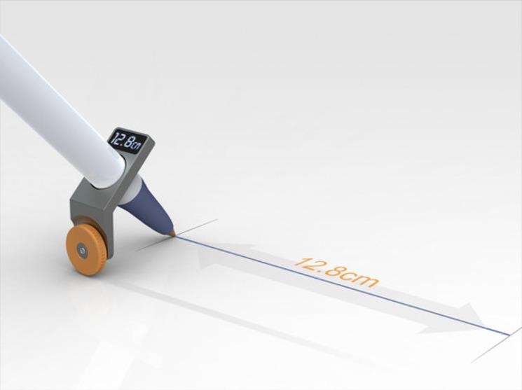 rueda lineas rectas complemento lápiz