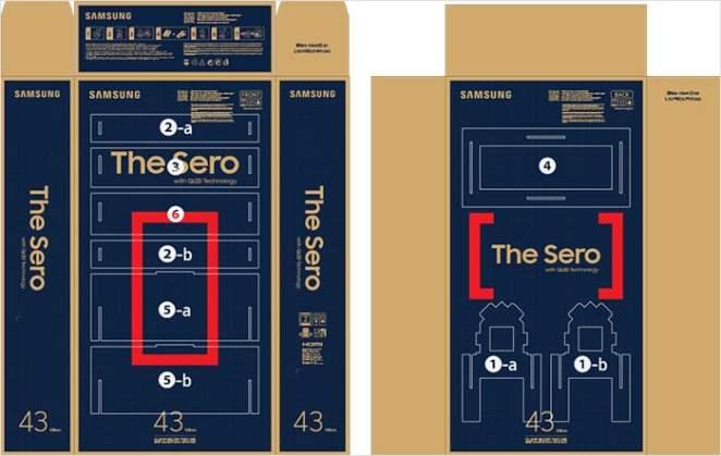 cajas de los televisores Samsung muebles para la casa mobiliario carton