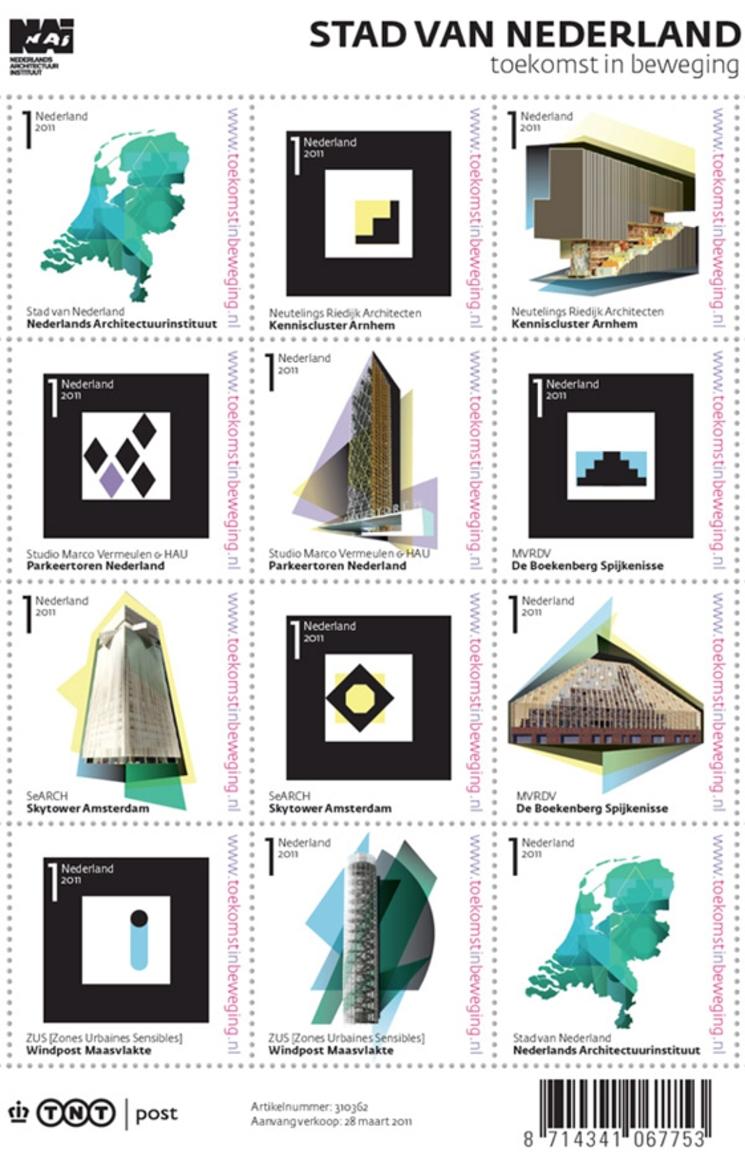 Sellos arquitectónicos de la Neatherlands Architecture Institute