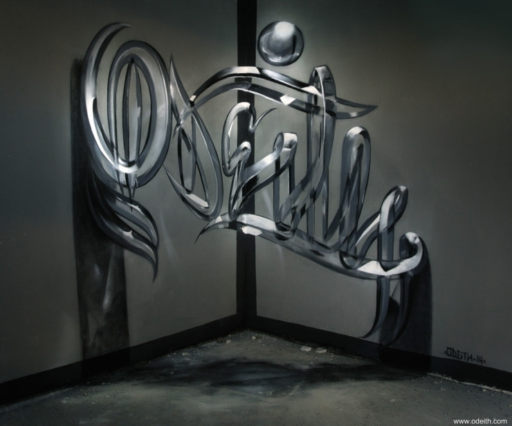 Sergio Odeith: Glossy glass effect