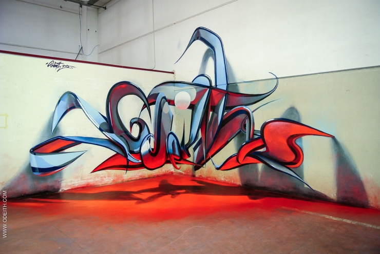 Sergio Odeith: Milan 2015 anamorphic letters