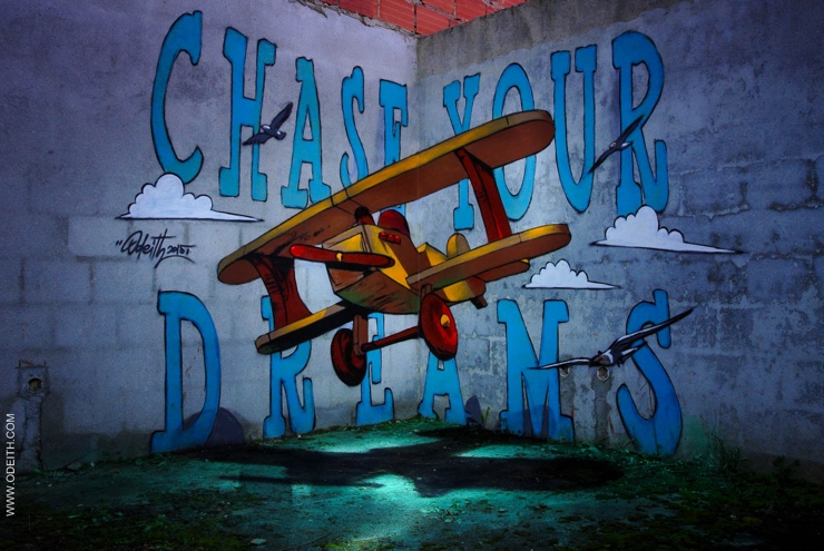Sergio Odeith: Chase your dreams - toy plane