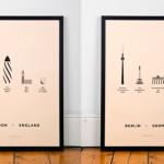 Serigrafías de arquitectura inspiradas en varias ciudades del mundo
