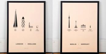 Serigrafias ciudades famosas