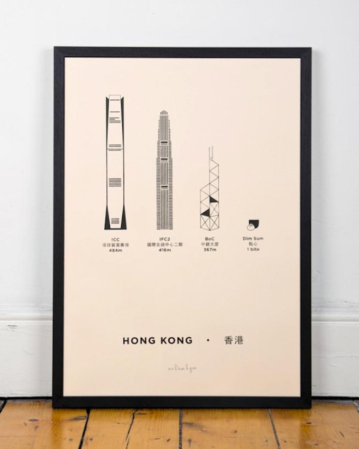 Serigrafias edificios hong kong