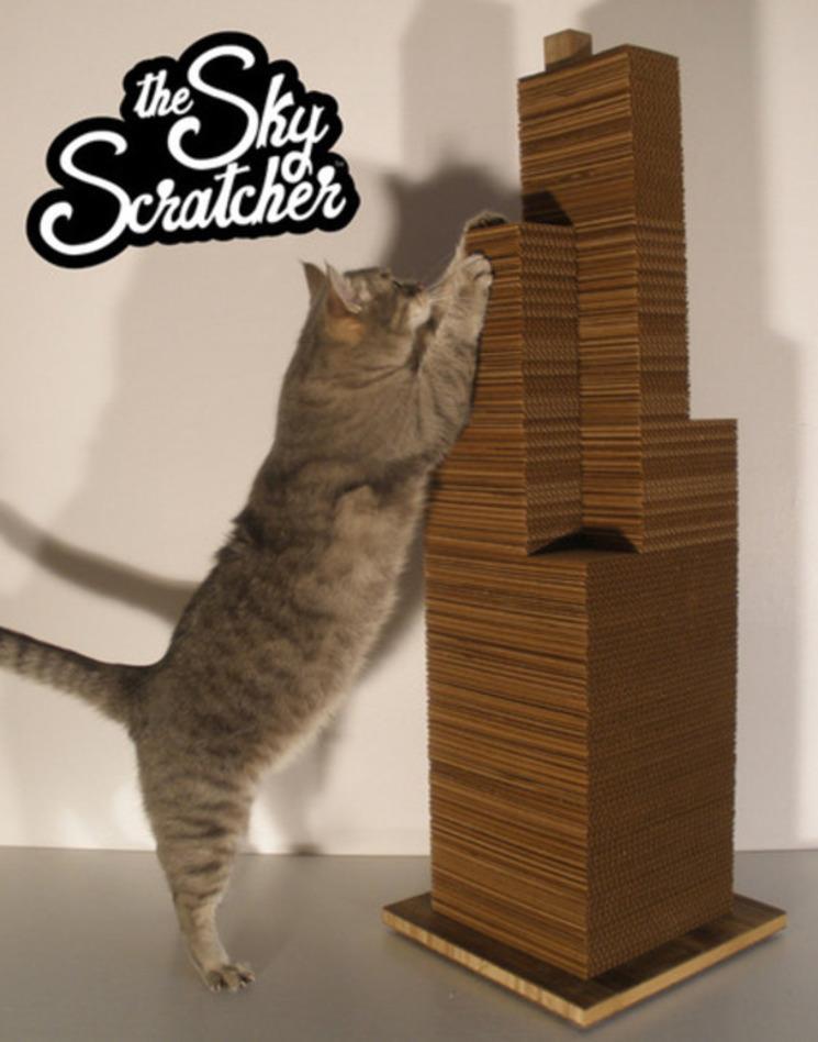 Sky Scratcher – El rascacielos de cartón para que tu gato juegue