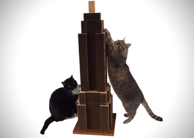 Sky Scratcher – Rascacielos de cartón para que tu gato juegue