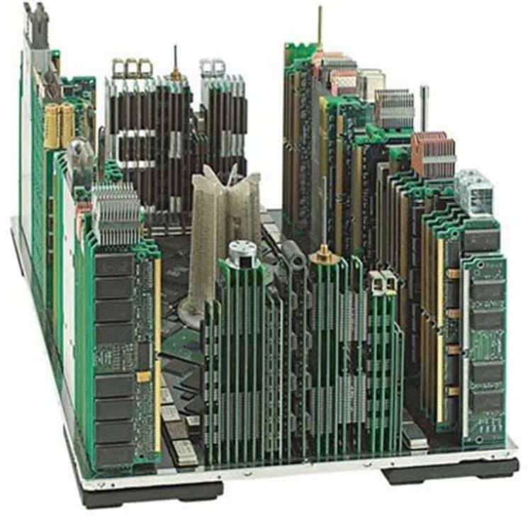 skyline ciudades piezas ordenador