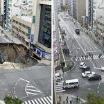 El socavón de Fukuoka arreglado en una semana – Timelapse