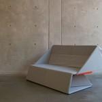 Sofá origami diseñado por Yumi Yoshida