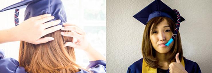 sombrero de graduación petaca