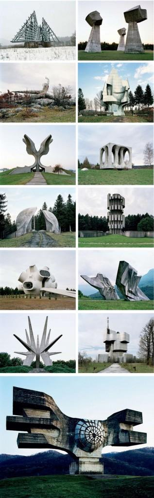 spomenik monumentos futuristas