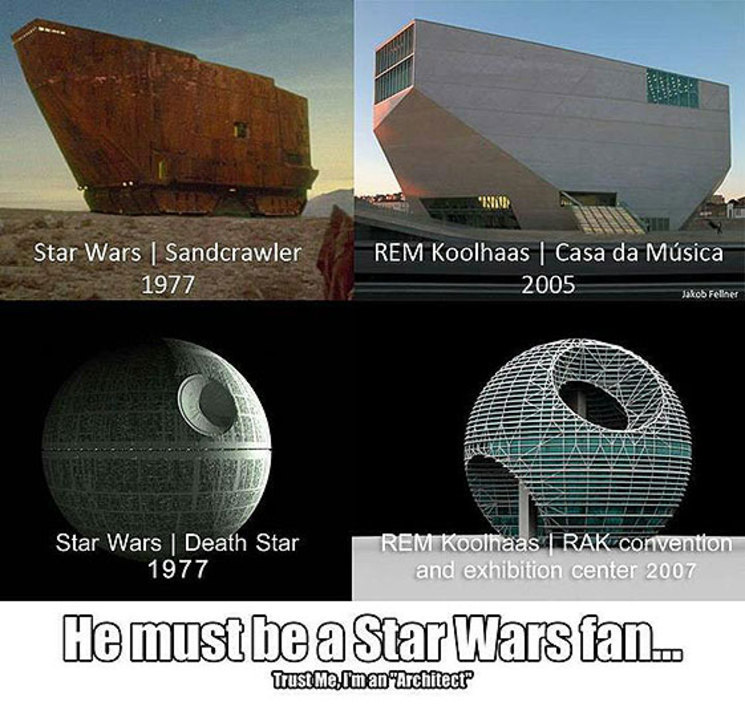 Koolhaas es fan de Star Wars!!!