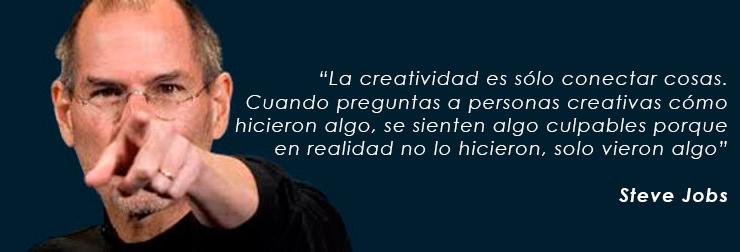 Steve Jobs creatividad conectar cosas