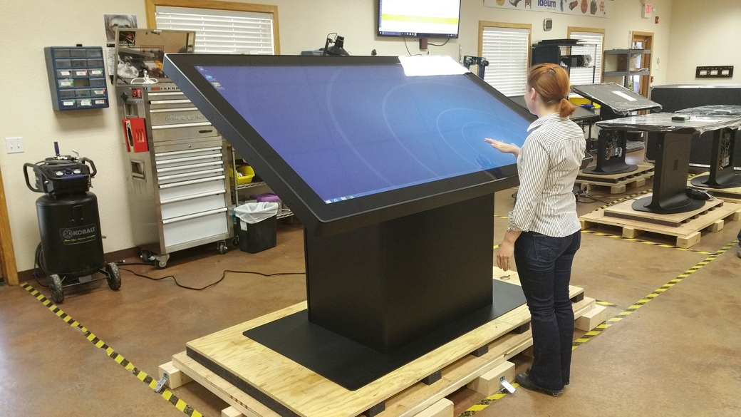 "84"" Custom 4K UHD Multitouch Kiosk"
