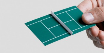 Originales tarjetas de visita de una escuela de tenis