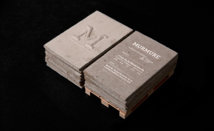 tarjeta de visita hormigon