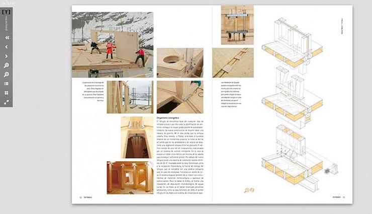 Tect nica da el paso al formato de revista digital y nace for Revistas de arquitectura online