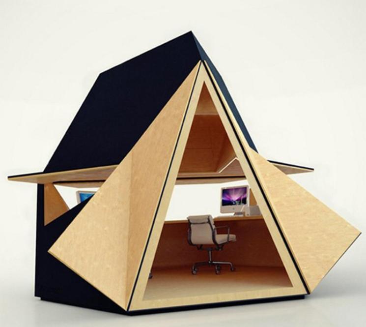 Sistema de oficina modular, moderno e inspirado en el origami