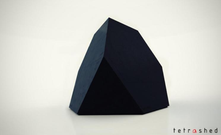 Tetra shed - Sistema de oficina modular, moderno e inspirado en el origami