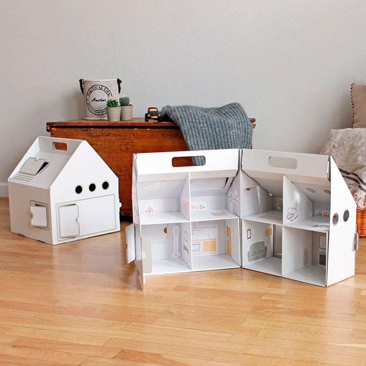 casitas de carton para niños
