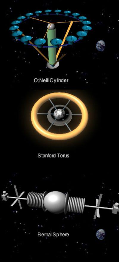 Los 3 principales tipos de colonias espaciales