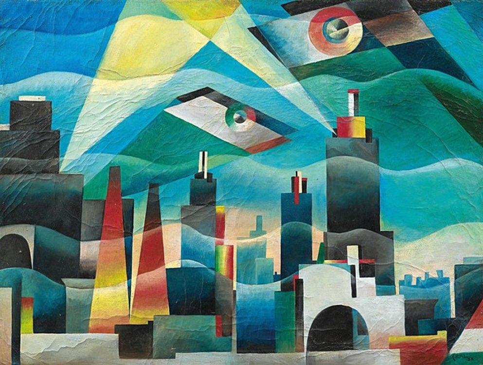 Tullio Crali 1926 Sorvolando la citta