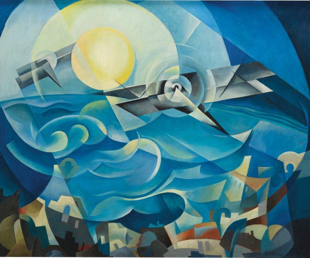 Tullio Crali 1930 Raggiungendo Il Sole