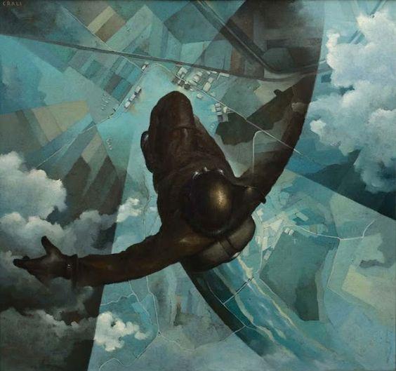 Tullio Crali Prima che si apra il paracadute