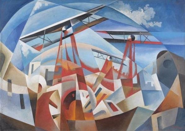 Tullio Crali 1932 Bombardamento aereo