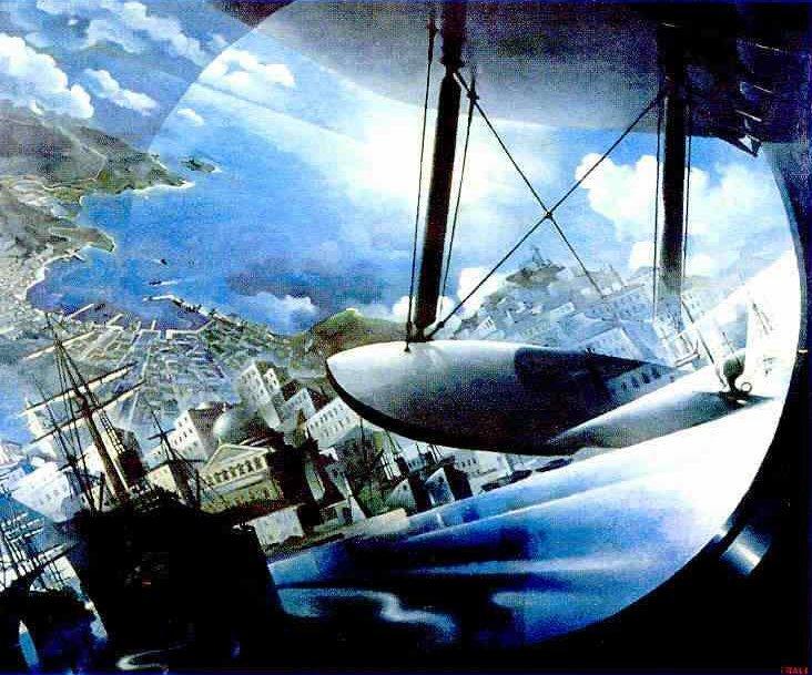 Tullio Crali 1939 Landing on the Gulf