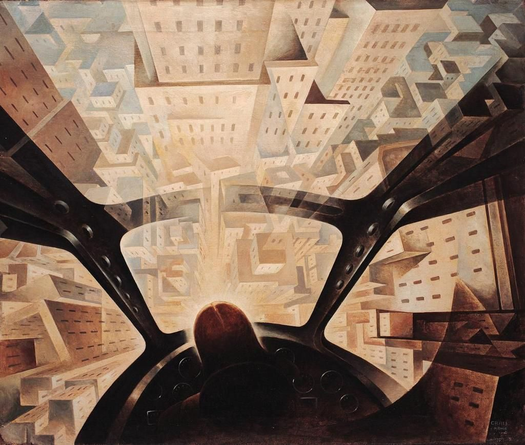 Tullio Crali 1939 Nose Dive on the City