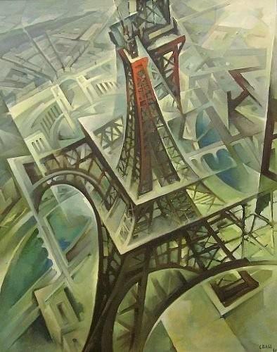 Tullio Crali 1980 La Tour Eiffel