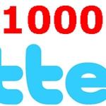 Ya tenemos 1000 followers en twitter!!!