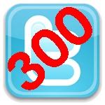 Ya somos 300 en Twitter