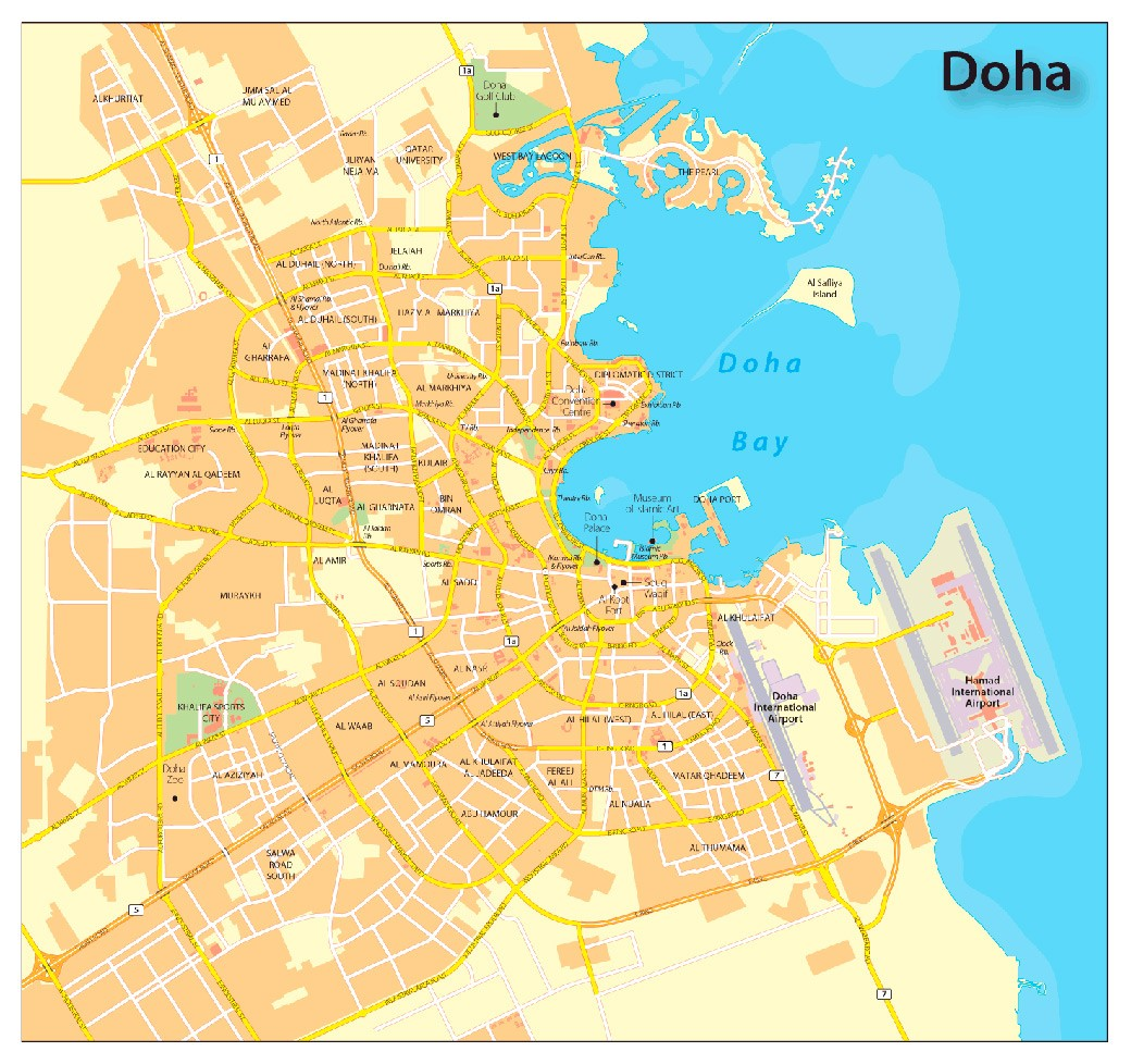 Urbanismo Doha mapa