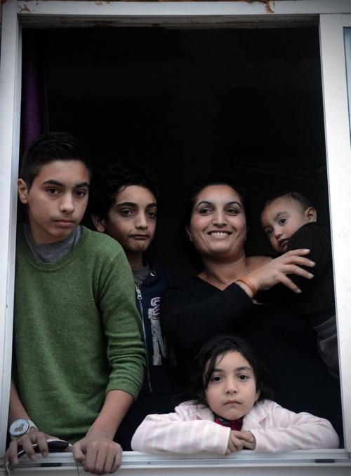 Vecinos del poblado chabolista de  As Rañas, Coruña