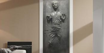 Vinilo decorativo para puerta de Han Solo en carbonita