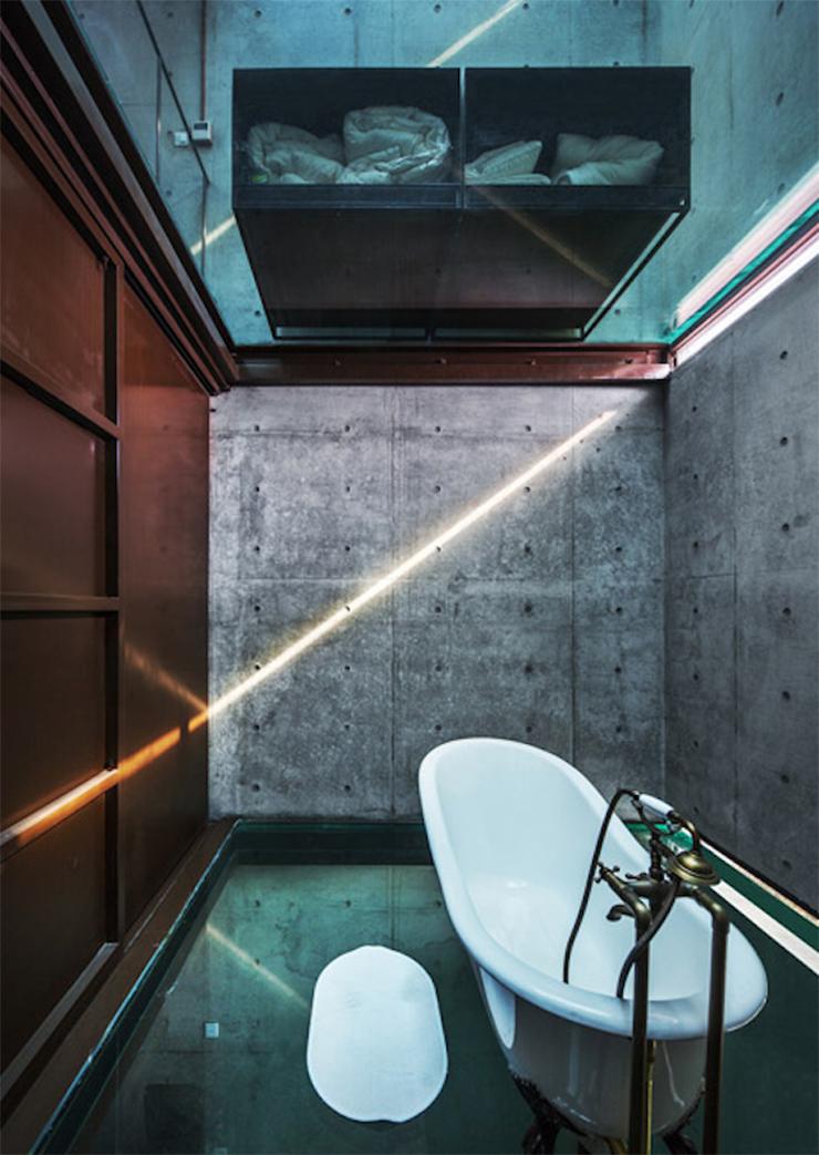 casa vertical vidrio